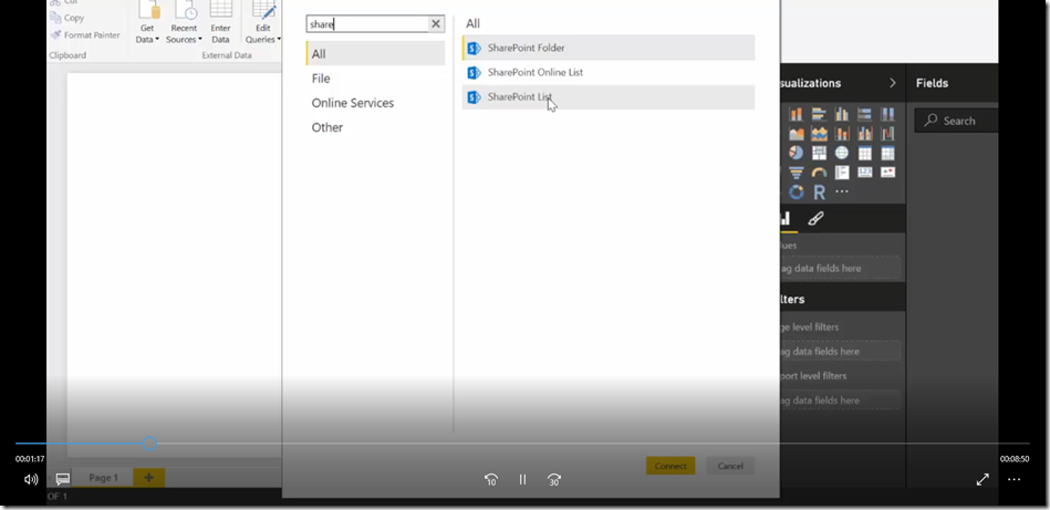 2 Import SharePoint libraries into Power BI and create links to the documents