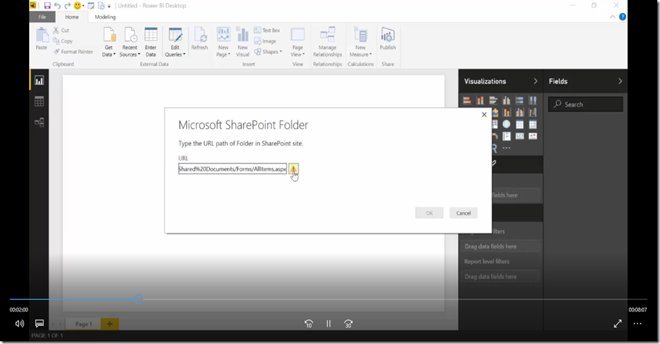 3 Import SharePoint libraries into Power BI and create links to the documents