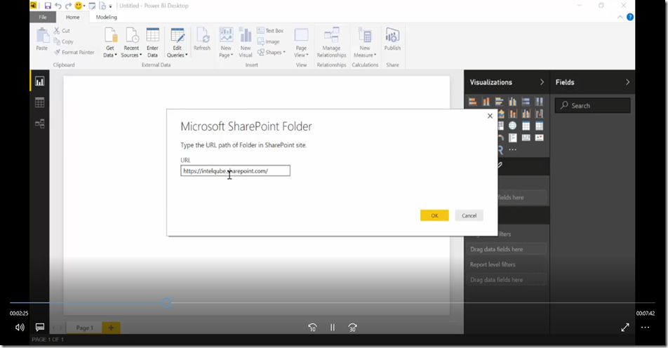 4 Import SharePoint libraries into Power BI and create links to the documents