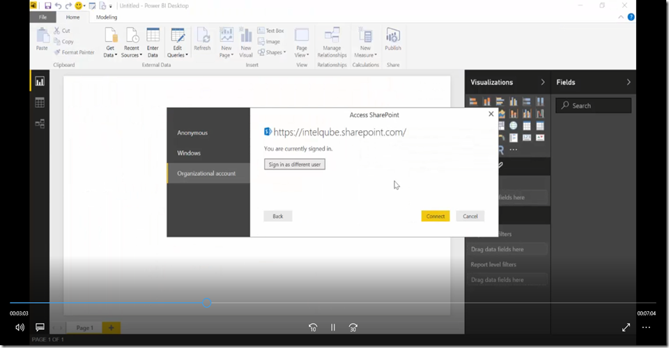 6 Import SharePoint libraries into Power BI and create links to the documents