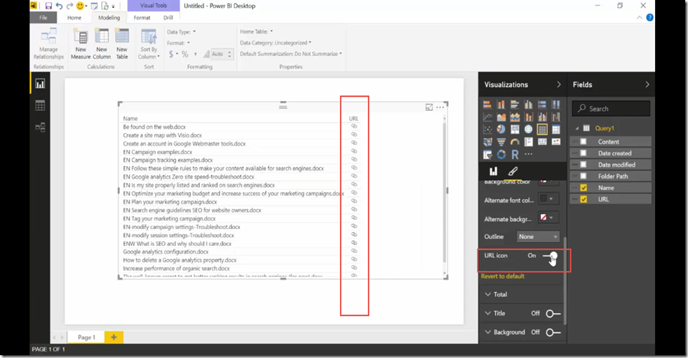 28 Import SharePoint libraries into Power BI and create links to the documents