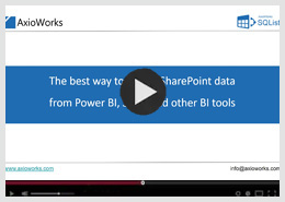 The best way to access SharePoint data from Power BI, SSRS, and other BI tools